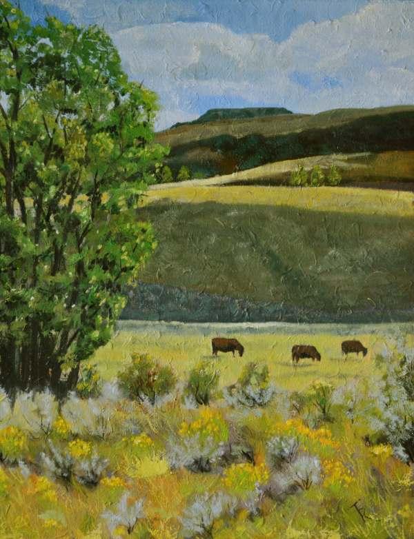 grazing fine art painting original