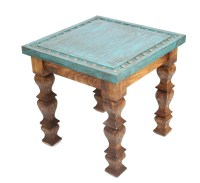 Silver Trails Western End Table-22 x 22 x 22