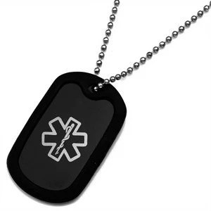 Medical ID Necklace Kids ID Necklace Medical Dog Tag