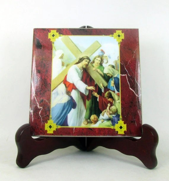 Stations of the Cross 15 tiles collection 2 by TerryTiles2014