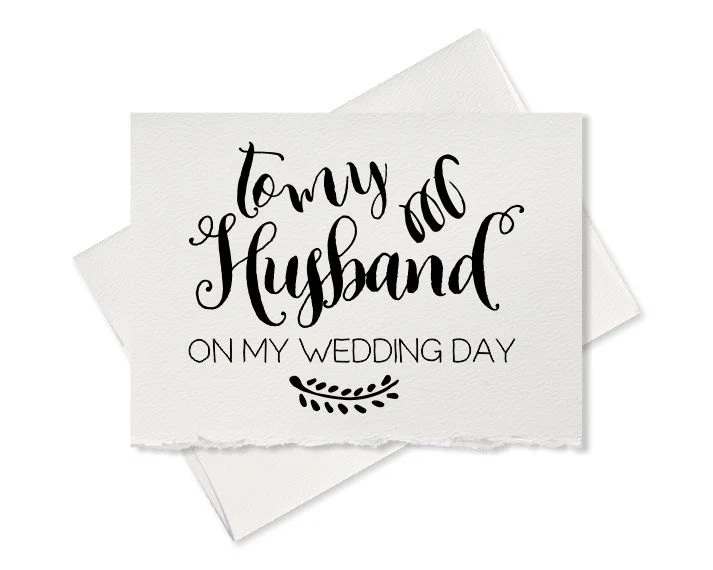 To My Husband On Our Wedding Day Card For By
