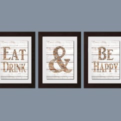 Decorative Kitchen Wall Art Pfister Faucet Modern Shabby Chic Eat And Drink