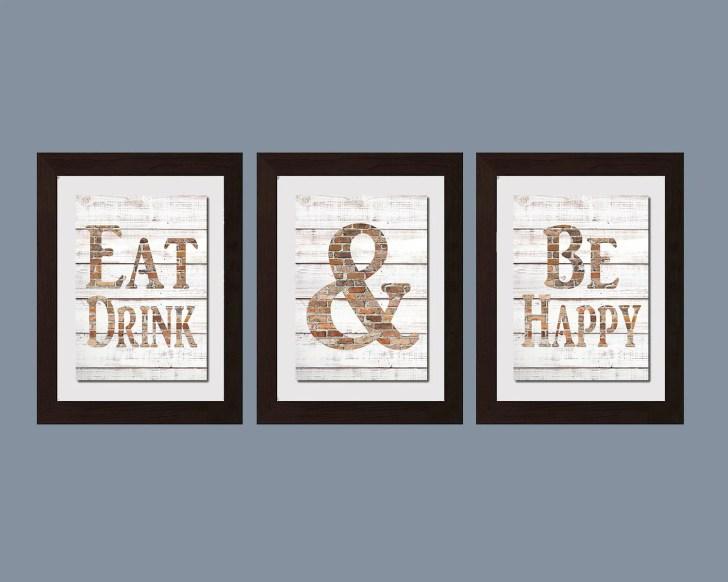 Modern Kitchen Wall Art Shabby Chic Eat Drink