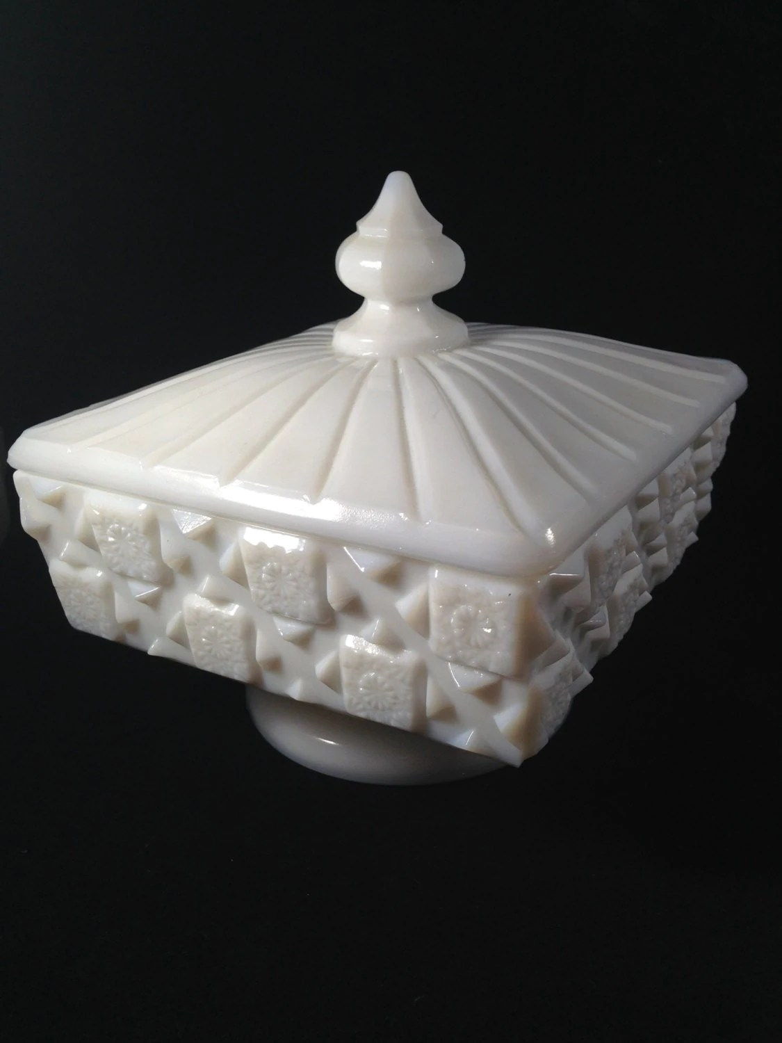 the honest kitchen copper countertops westmoreland milk glass candy dish old quilt pattern marked w