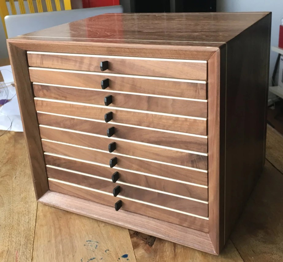 Wooden Coin Cabinet Coin Case Coin Box