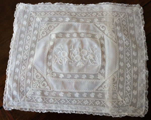 Vintage Lace Sham Normandy Small Boudoir Size 12