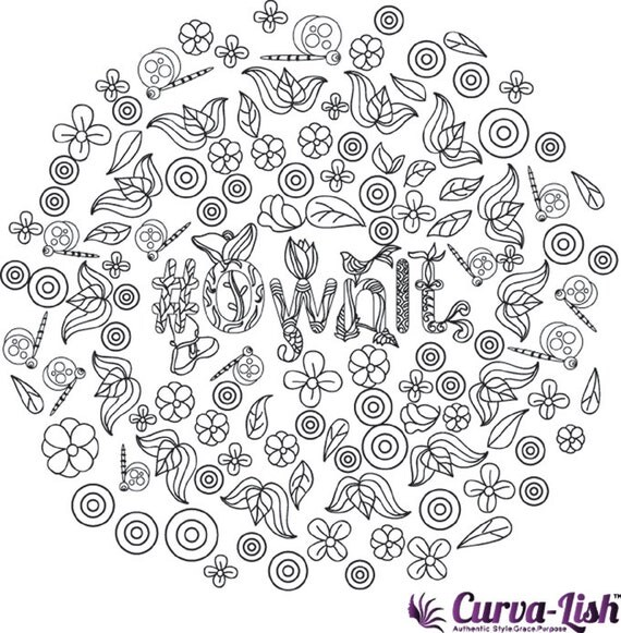 Downloadable Coloring Page Affirmation: OwnIt