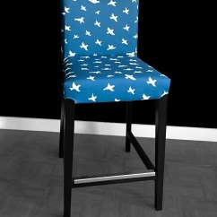 Chair Covers For Ikea Henriksdal Chairs Folding Target Pair Bar Stool Slipcovers
