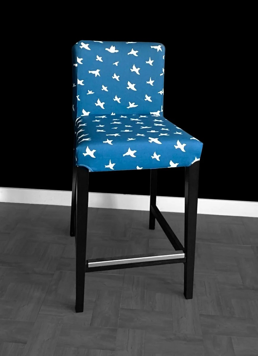 dining chair seat covers etsy activity table and set pair ikea henriksdal bar stool slipcovers