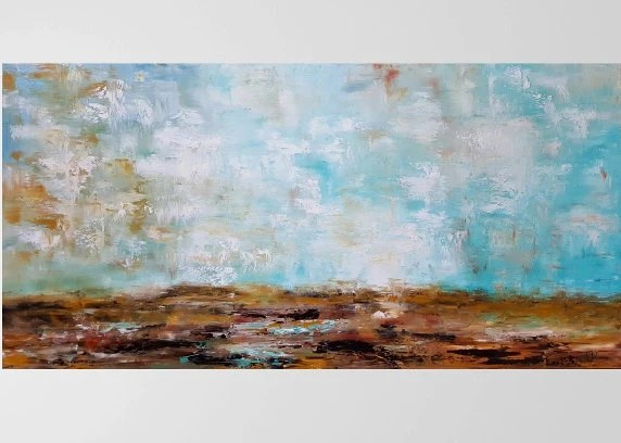 Large Horizontal Wall Art Large Abstract Art By