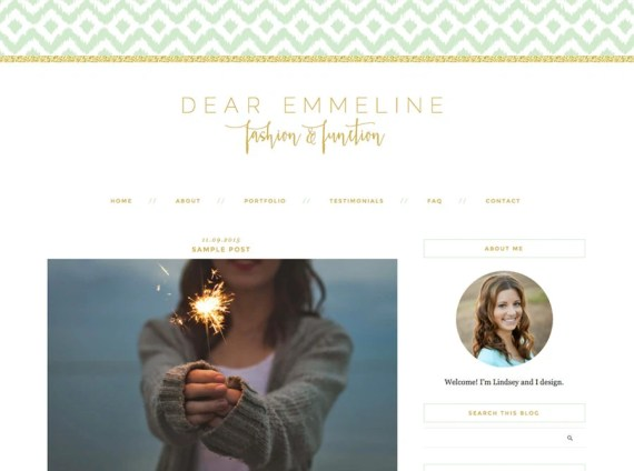 """Blogger Template, Blog Template - """"Emmeline   by Lindsey"""" Instant Digital Download"""
