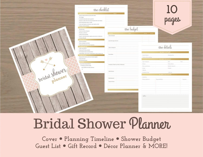 Bridal Shower Planner Bridal Shower Checklist Wedding