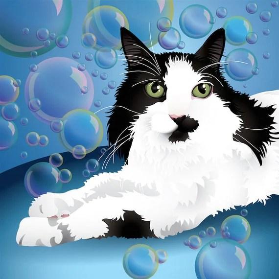 Olive & Rye - Custom Cat Portrait - Head & Shoulders - 10