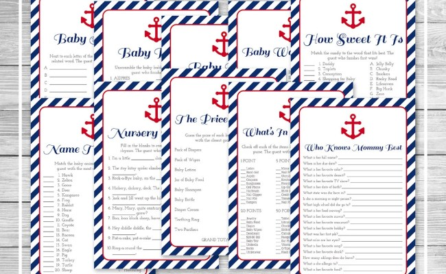 Nautical Baby Shower Games 10 Printable Baby Shower Games