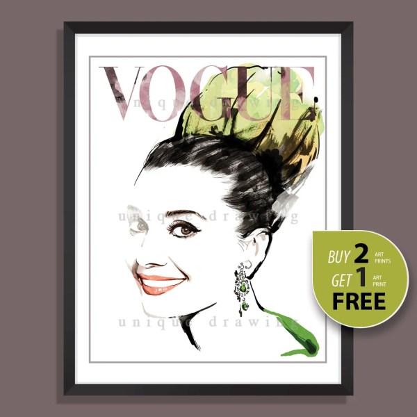 Vintage Vogue Magazine Covers Prints
