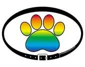 DECAL - Rainbow Paw Print...