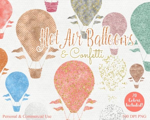hot air balloon clip art commercial