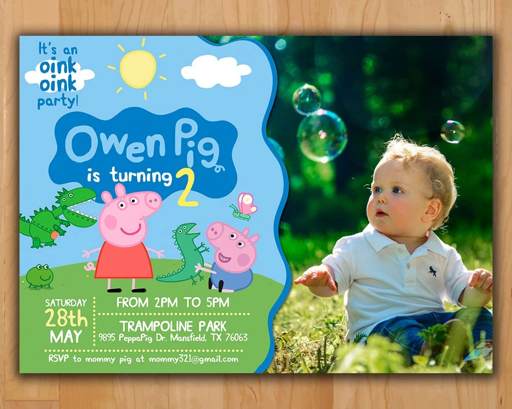Peppa Pig Invitation Peppa Pig Birthday Invitation Peppa