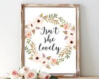 Isn't she lovely printable art nursery wall art quote