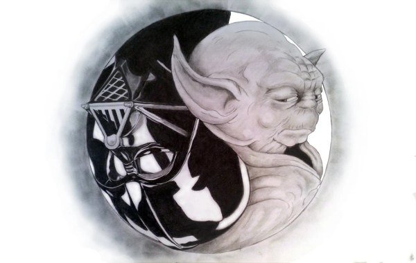 Star Wars YinYang Pencil Drawing
