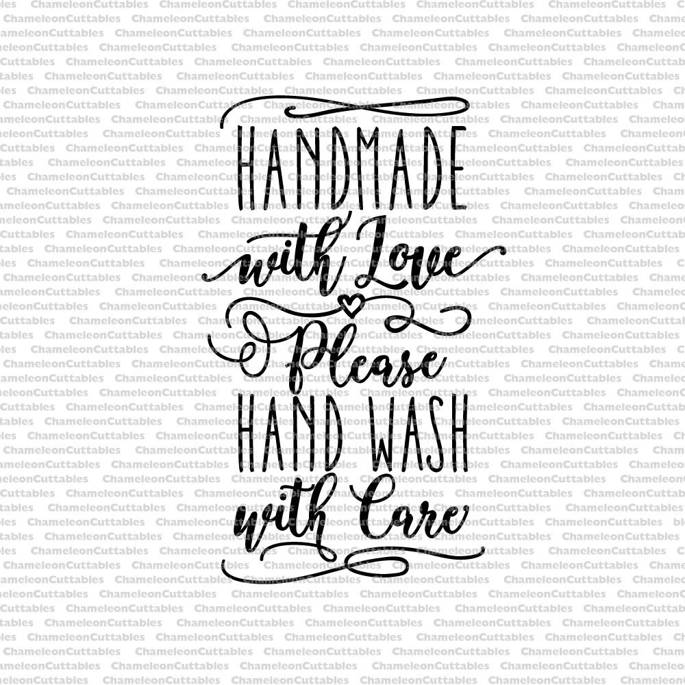 Download handmade with love, please hand wash with care, care ...