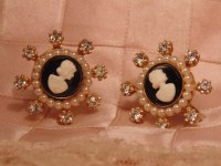 Vintage CORO Earrings Coro Jewelry Cameo by Roadsidebridge ...
