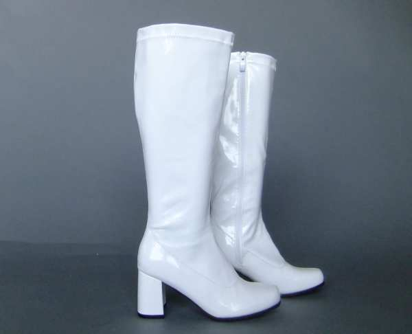 White Gogo Boots Nancy Sinatra Mod Retro