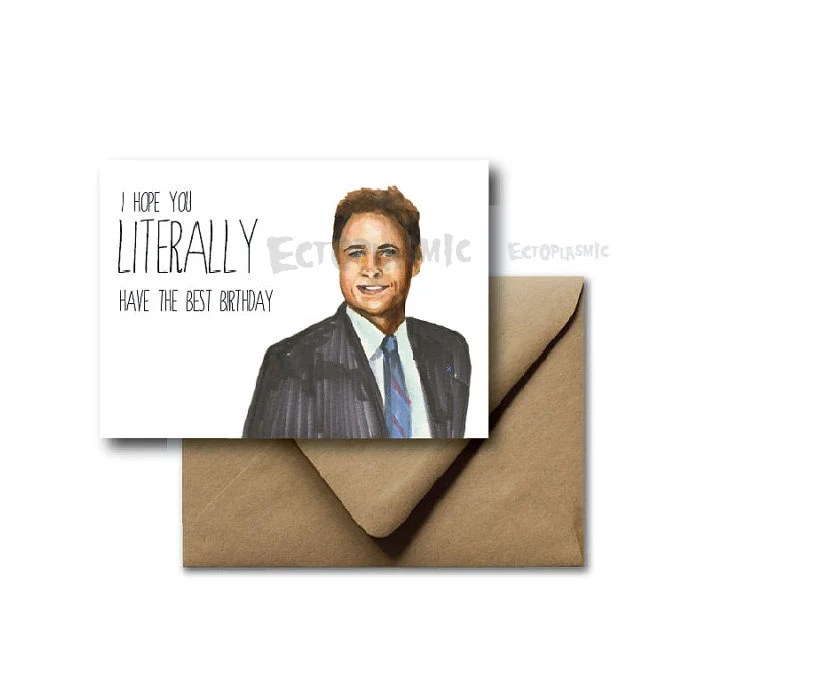 Items Similar To Greeting Card Birthday Card Parks And Rec