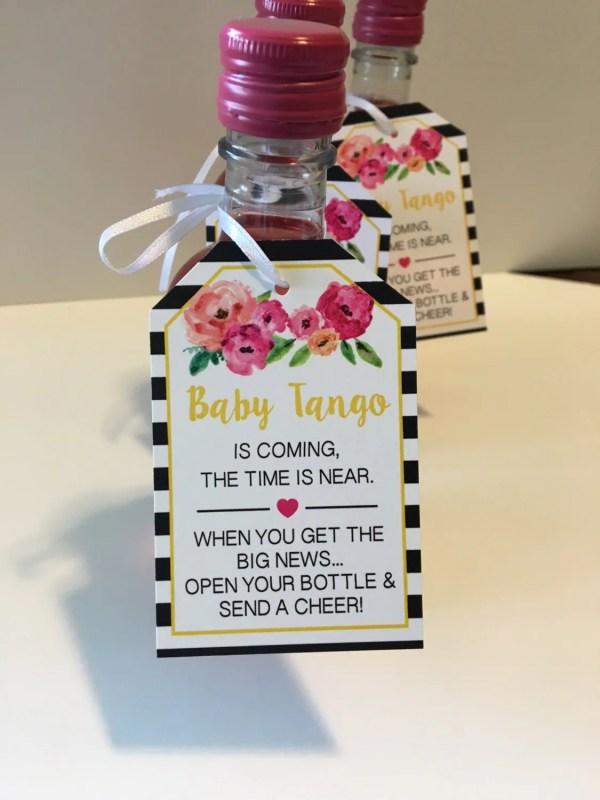 Baby Shower Favor Tags Mini Wine Bottles Bottle