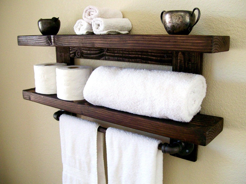 floating shelves towel rack floating shelf wall shelf wood