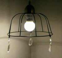 Black Rustic Farmhouse Style Wrought Iron Basket Pendant Lamp