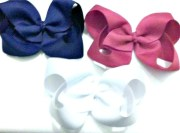 red white and blue bows hair bow