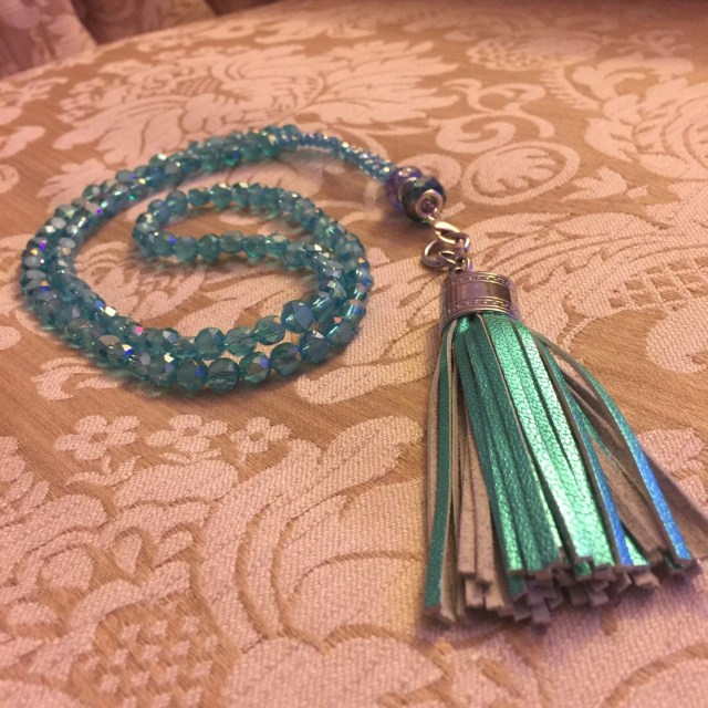 Tassel Necklace Blue and ...