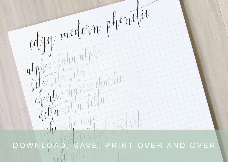 Intermediate Edgy Modern Calligraphy Worksheets Calligraphy
