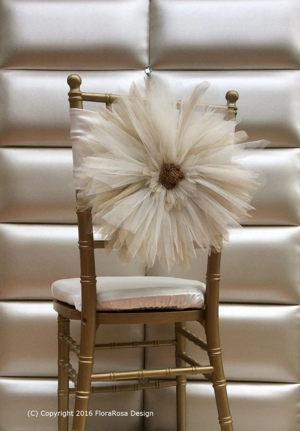 How To Make Chair Sashes Tulle Daisy Chair Sash