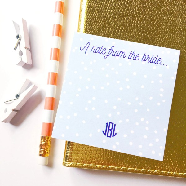 Note Bride Personalized Sticky Notes