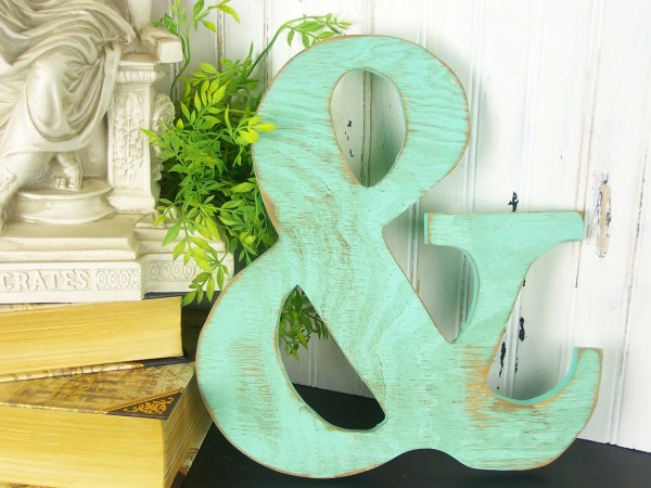 Wooden Ampersand Sign Wall Decor And Symbol Typography