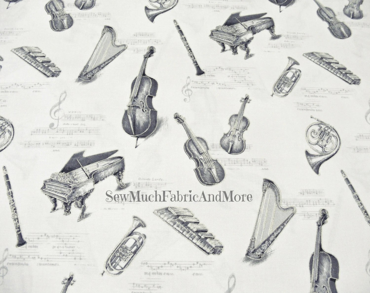 Cotton Linen Fabric for craftMusic