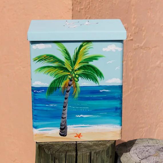 wallmount mailbox hand painted