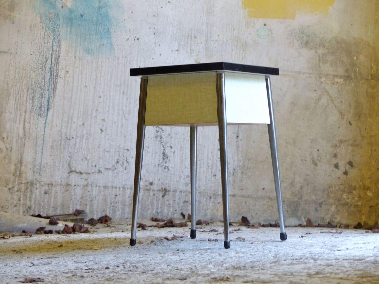 Tabouret formica vintage mid century french stool haute juice - Tabouret haut vintage ...