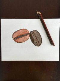 original coffee beans wall art colored pencil by ...