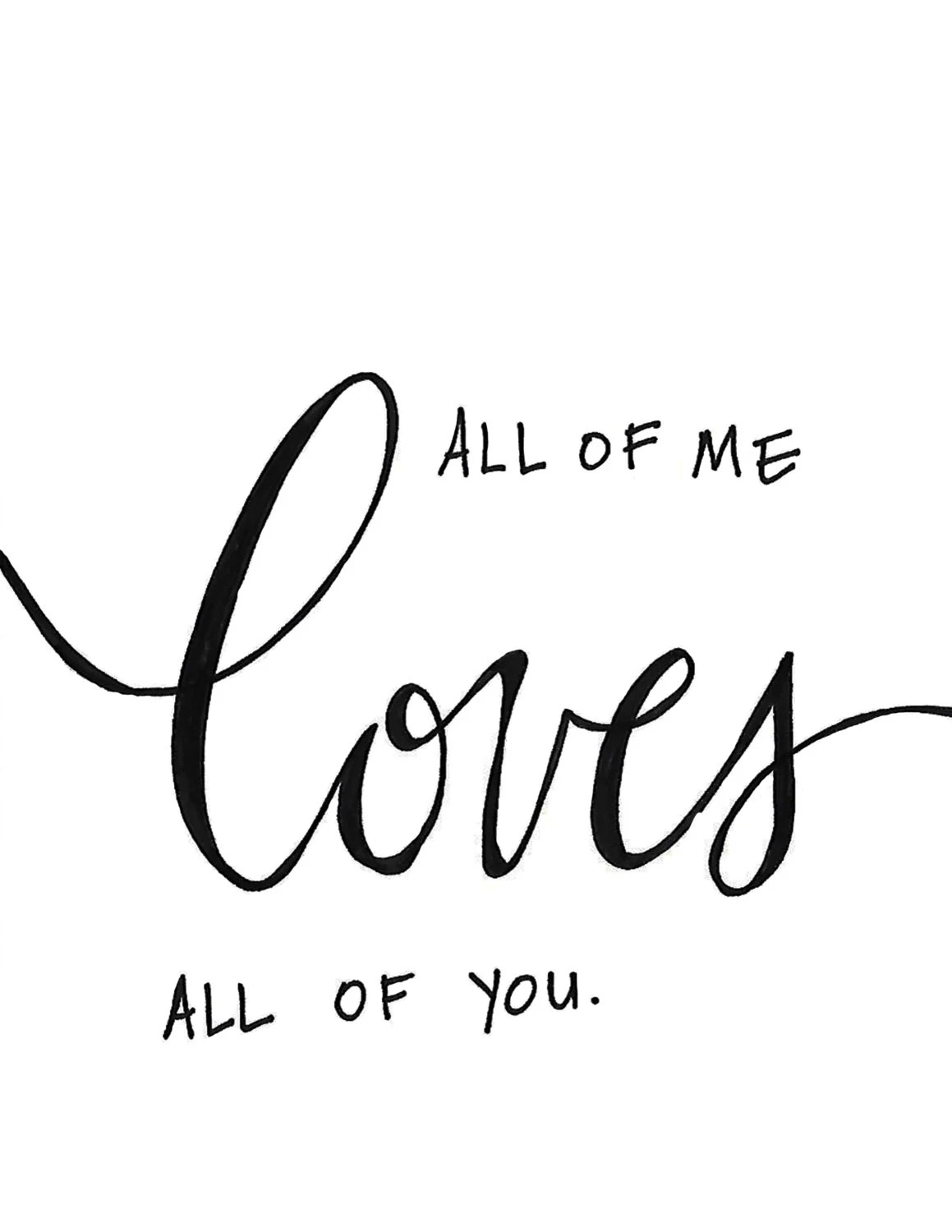 Popular items for all of me loves all on Etsy