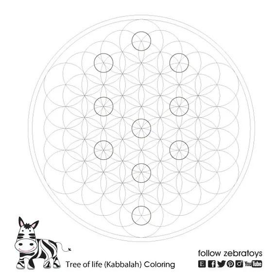 Kabbalah Sacred Geometry Symbols Coloring Book-Jewish