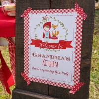 Little Red Riding Hood Party Decorations Red Riding Hood