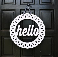 Hello Wreath // Hello Door Hanger // Front Door Decor // Hello