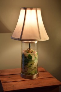 Maine Made Seaglass Lamp with Shells and Starfish Made to