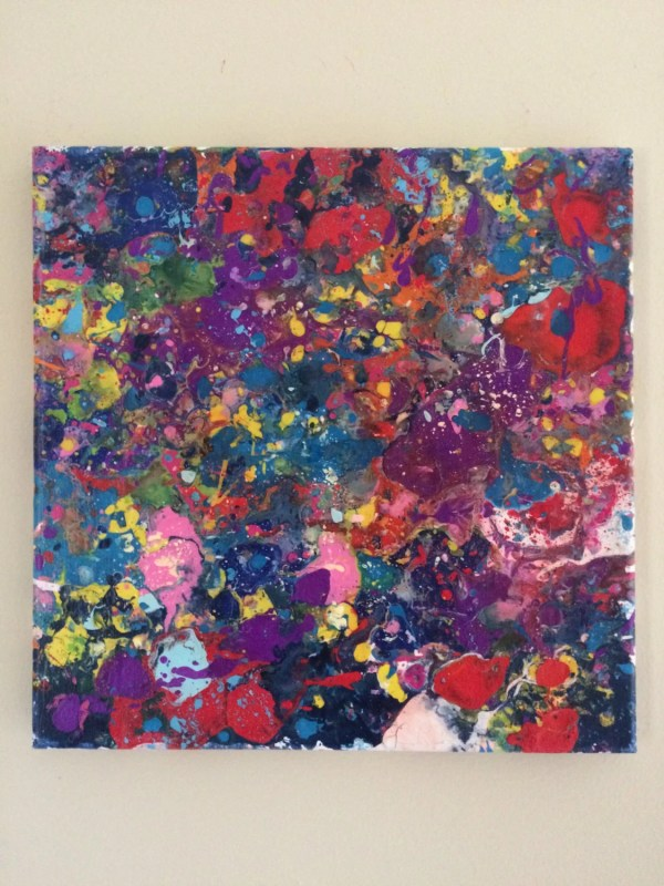 Abstract Splatter Art Painting