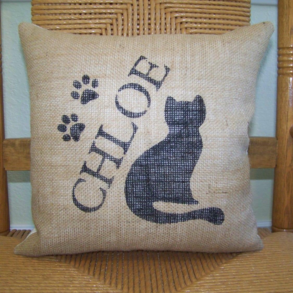 Cat pillow Personalized cat pillow Kitty pillow Pet pillow