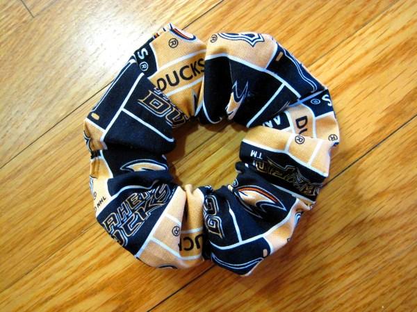 Sports Scrunchies Handmade Anaheim Ducks 100 Cotton