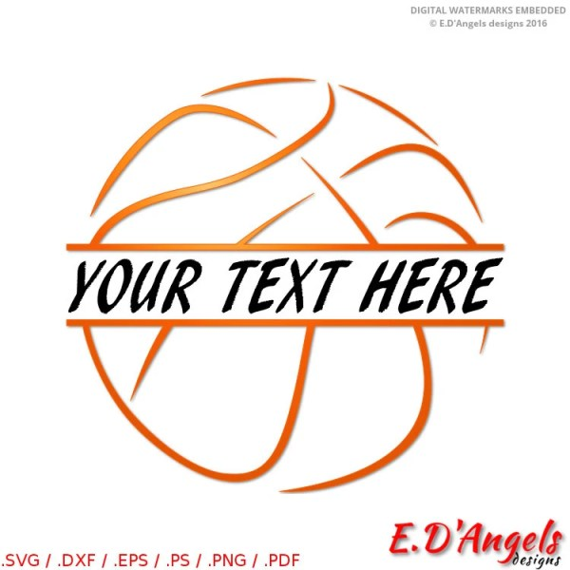 basketball svg monogram